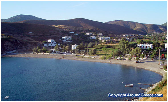 The beach of Acherounes Skyros Greece