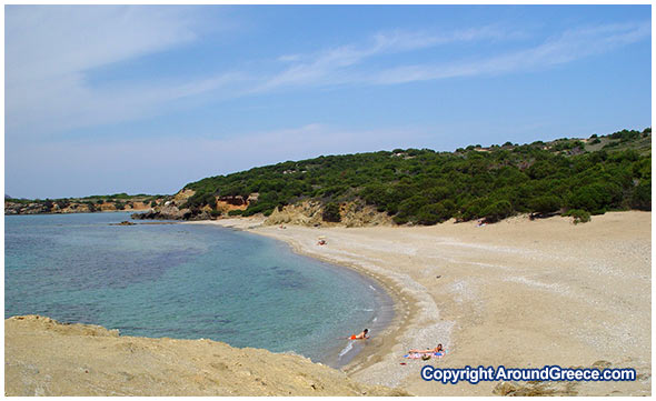 The beach of Agios Petros